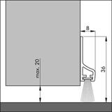 Samolepiace tesnenie s kefou PDS-2 B ZK