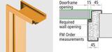 Dvere plechové so zárubňou REV-R dvojkridlo