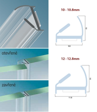 Profil G2G pre sklenené dvere