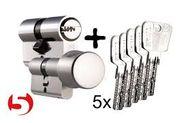 Zlúčenie vložiek Titan K5 na spoločný kľúč
