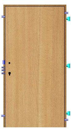 Bezpečnostné dvere Bedex 2R bez PO