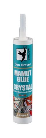 Den Braven MAMUT GLUE montážne lepidlo 290 ml, farba kryštál 1183