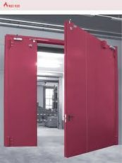 Oceľová požiarna brána dvojkrídlo EI60 3m x 3m