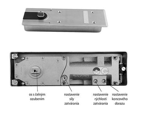 Podlahový samozatvárač TS 500 NV 1-4